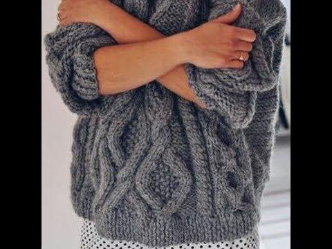 Молодежный Пуловер Спицами для Девушек - 2019 / Youth Pullover Knitting Needles For Girls