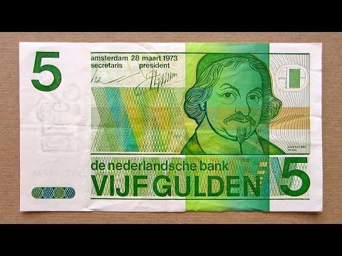 5 Netherlands Gulden Banknote (Five Gulden Netherlands / 1973) Obverse and Reverse