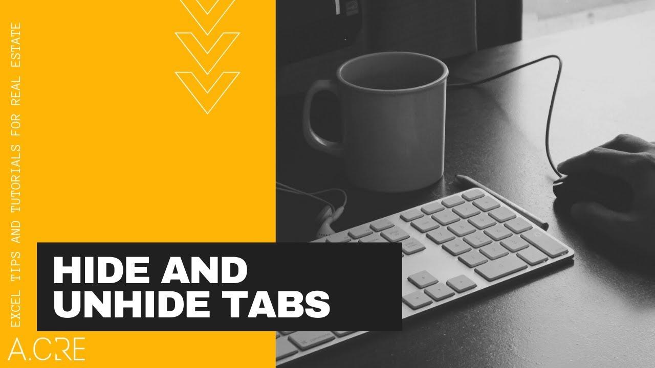 Hide And Unhide Tabs Using A Drop Down Menu In Excel