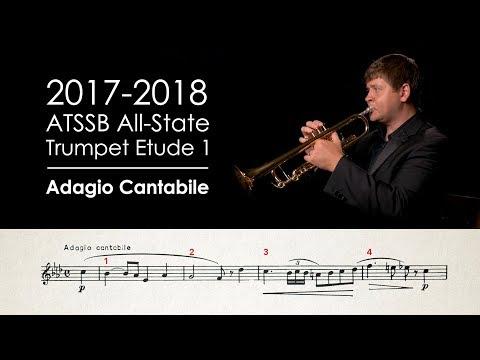 2017-2018 ATSSB All-State Trumpet Etude 1 - Adagio Cantabile