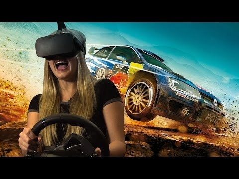First Timers React to VR Racing (and Also A PRO!)