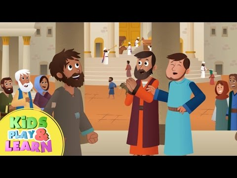 Peter and John Heal A Lame Man - Bible Story For Kids & Children