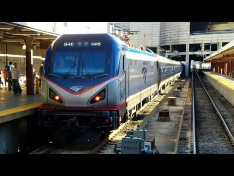 Railfanning Boston South Station and Back Bay with Amtrak and MBTA Trains