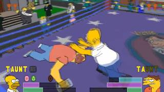 The Simpsons Wrestling [PSX] - Gameplay
