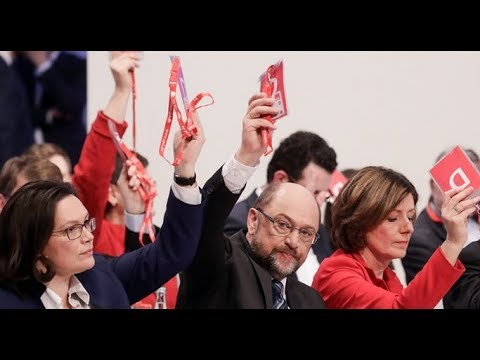 German Socialdemocrats Vote for Grand Coalition with Angela Merkel!