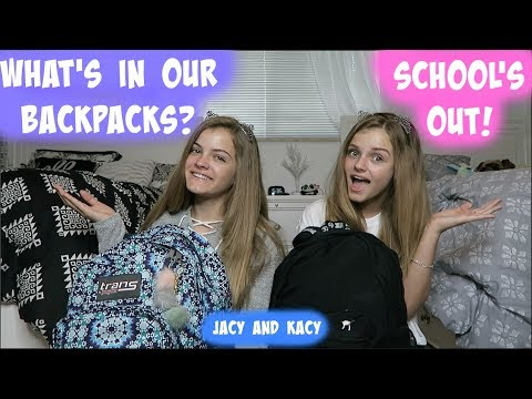 Thumbnail: What's In Our Backpacks ~ School's Out ~ Jacy and Kacy