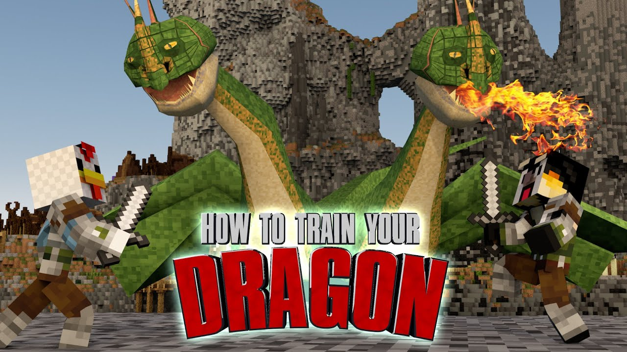 Minecraft how to train your dragon ep 2 a dragon attacks youtube ccuart Gallery
