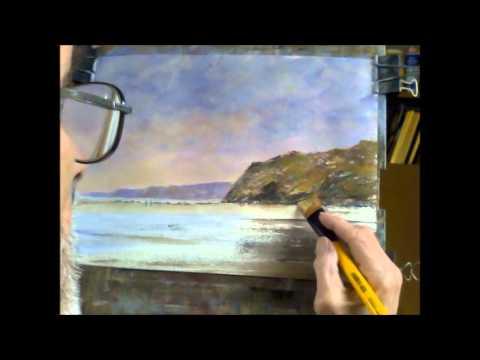 Watergate Bay. An acrylic on watercolour paper