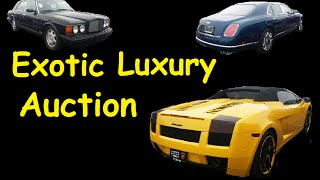 Exotic Luxury Highline Car Auction Bidding on Premium Cars