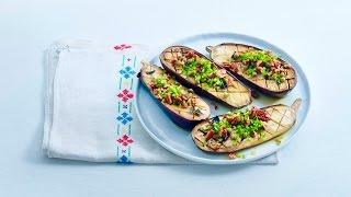 Roasted Eggplant with Orange Juice Dressing – Savory
