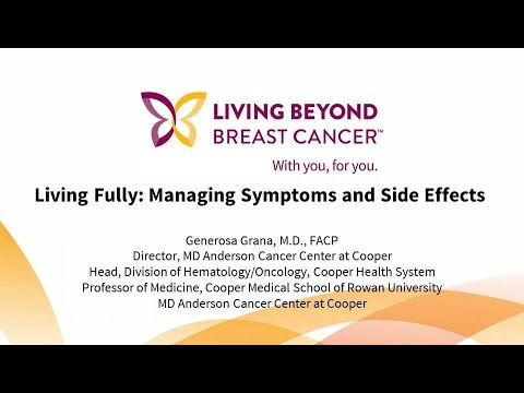 Managing Symptoms And Side Effects Of Metastatic Breast Cancer