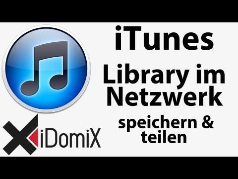 ITunes Mediathek Im Netzwerk Speichern Und Teilen