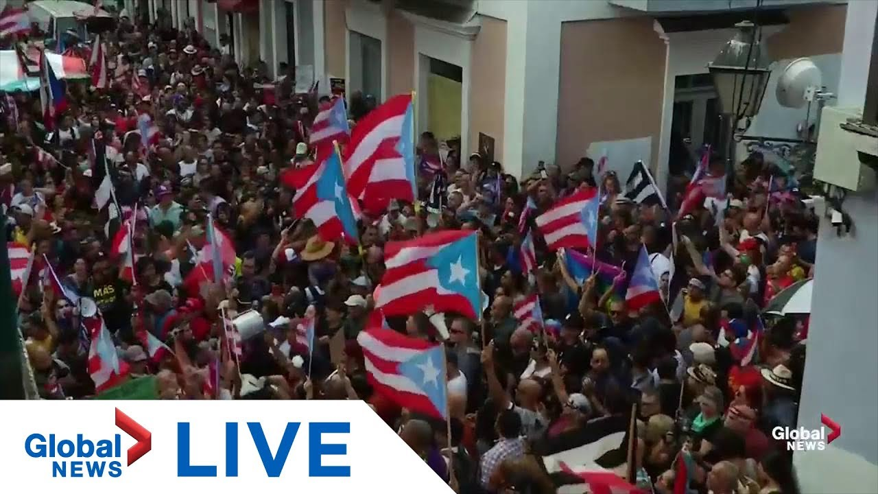 Puerto Ricans celebrate departure of embattled governor | LIVE
