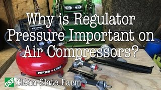 Regulator Pressure on Air Compressors