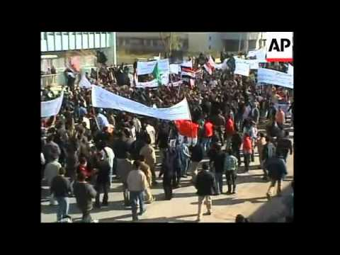 Students protest against Muhammad cartoons