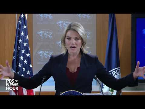 WATCH: State Dept. Spokesperson Heather Nauert holds news briefing