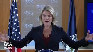 WATCH: State Dept. Spokesperson Heather Nauert holds news briefing