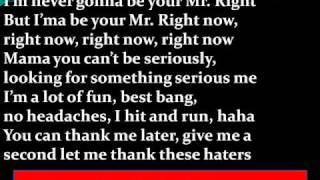 Download Pitbull Ft. Akon - Mr. Right Now Lyrics Mp3 and Videos