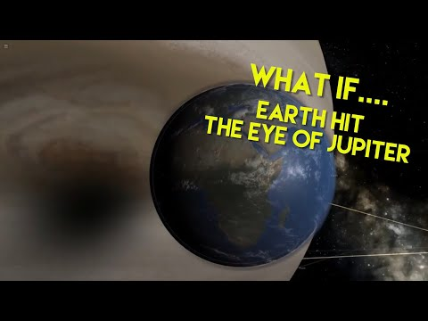 WHAT IF....Earth hit the Eye of Jupiter