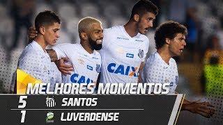santos 5 x 1 luverdense melhores momentos copa do brasil 100518
