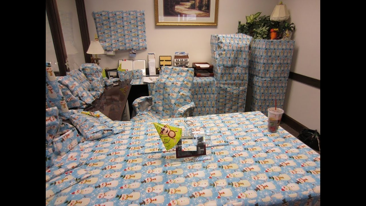Office Prank Surprise Wrapping Paper Youtube