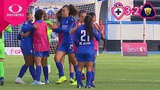Lluvia de goles | Cruz Azul 3 - 2 Pumas | Ap 2019 - J2 - Liga Mx Femenil | Televisa Deportes