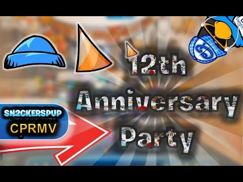 Club penguin rewritten club penguin th anniversary party