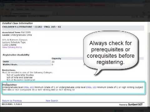 Searching For Courses In Bannerweb Youtube