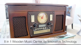 Review of the 8 in 1 Wooden Music Center, by Innovative Technology