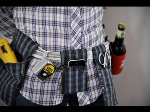 how to: create a custom, no-sew tool belt from repurposed fabric ...