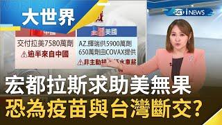求助美國無果!宏都拉斯恐為取得疫苗與台灣斷交?中國趁疫情滲透美國後院 擴張拉美影響力? 主播王志郁 【大世界新聞】20210520 三立iNEWS