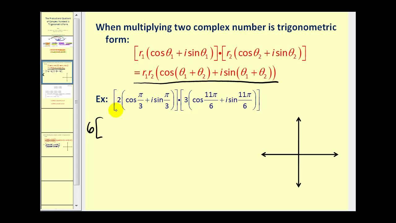 write a complex number in trigonometric form