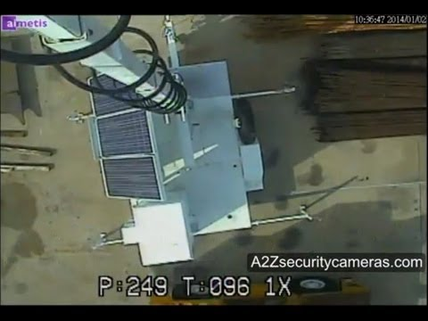 A2Z Solar Power 4G PTZ Camera Surveillance Trailer Demo