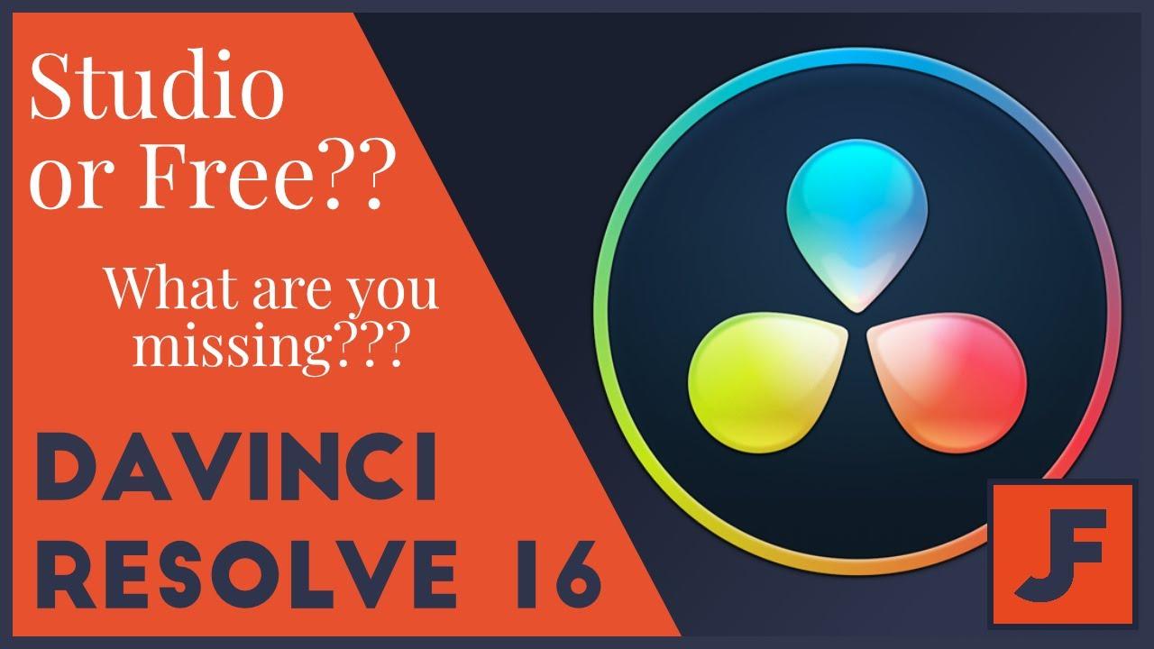 davinci resolve 14 free vs studio