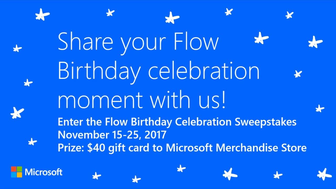 Flow Birthday Celebration Sweepstakes (Nov 15-25) - Power Platform