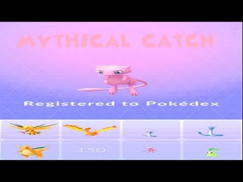 Pokemon Go - Mew Encounter & Catch #151 Pokedex Registration