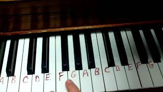 How to play YELLOW ROSE OF TEXAS easy piano keyboard melody tutorial tutor free lesson
