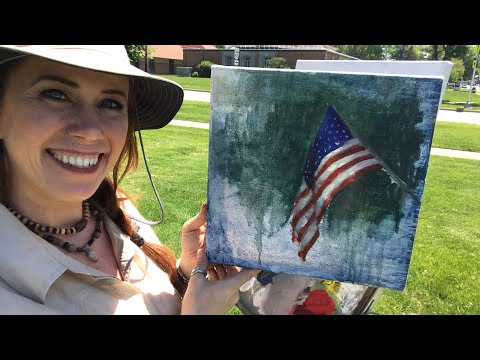 Plein Air Painting an American Flag with Jessica Henry