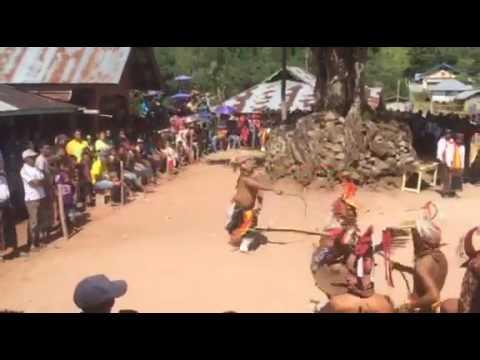 Traditional caci dance of manggarai