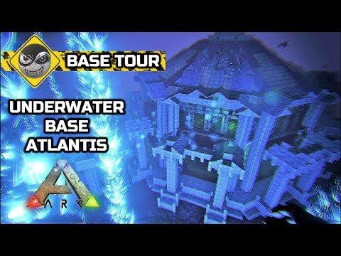 ARK: Survival Evolved - UNDERWATER BASE - Water pen Base Tour (No mods)