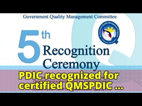 PDIC recognized for certified QMSPDIC recognized for certified QMS
