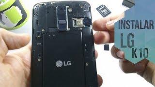 LG K10 2017 Instalar Simcard y Memoria Micro SD - OM -
