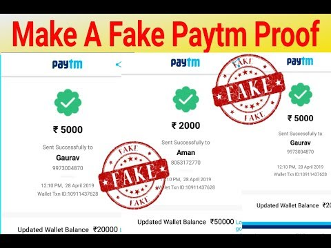 How to do fake paytm payment - Myhiton