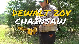 DEWALT 20V ElECTRIC CHAIN SAW REVIEW