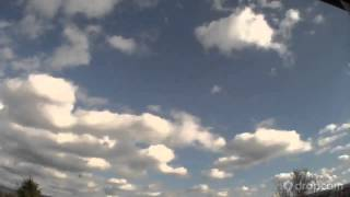 Dropcam Timelapse Rotating Cumulus Clouds 4/8