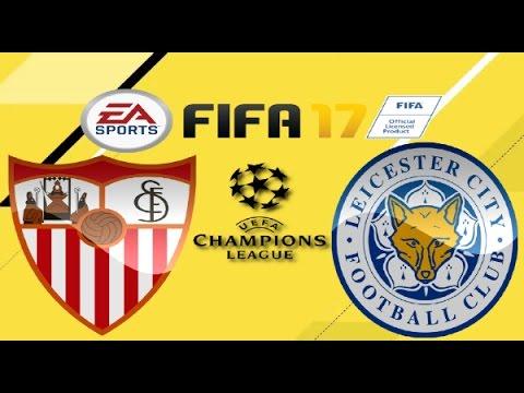 PS4 FIFA 17 Gameplay FC Sevilla vs Leicester City HD