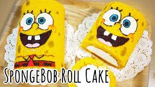 스펀지밥 롤 케이크만들기 スポンジボブロールケーキレシピ How to make SpongeBob Roll Cake [스윗더미 . Sweet The MI] thumbnail