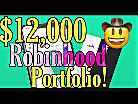 The $12,000 Robinhood DIVIDEND Portfolio $36.63 Monthly Cashflow Stock Market Investing!