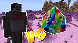 DEUS PEDRA VS. LUCKY BLOCK ARCO-ÍRIS (MINECRAFT LUCKY BLOCK CHALLENGE ROCK GOD MOONKASE)