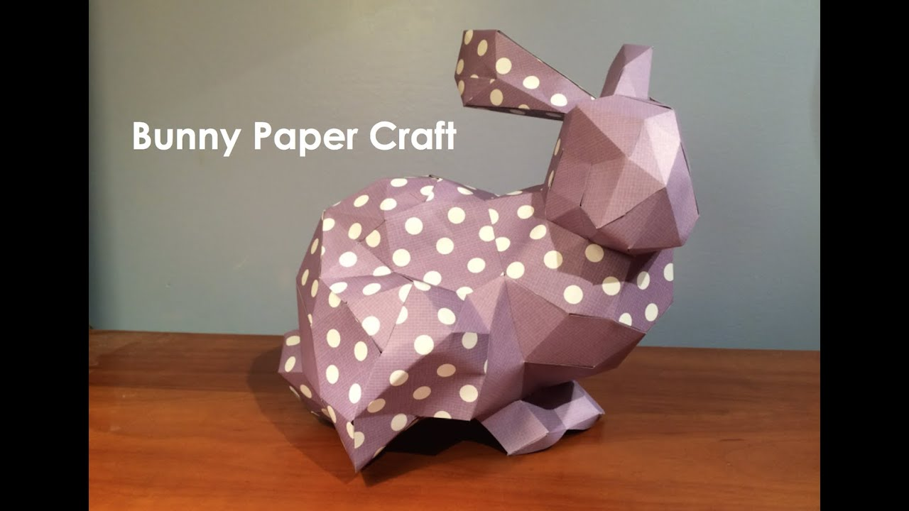 Bunny Paper Craft Easter Bunny Papercraft 3D Rabbit 3D Papercraft Bunny DIY Gift PDF Papercrafting PDF Pattern Jumping Bunny 3D Origami